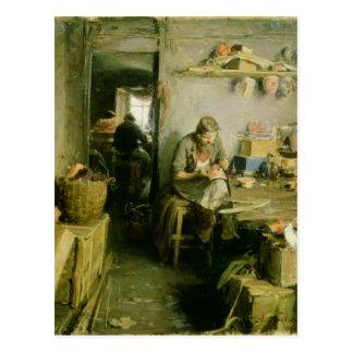 Carte Postale Dans le studio de masque, 1897