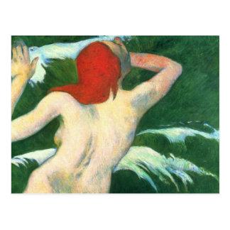 Carte Postale Dans les vagues - Paul Gauguin