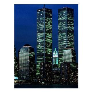 Carte Postale Dans Memoriam dans la mémoire des Tours jumelles