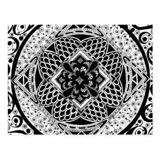Carte Postale dans noir et le blanc