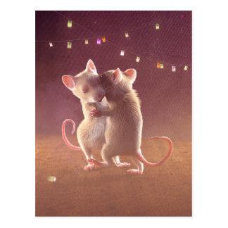 """Carte postale : """"Dansant par nuit """""""