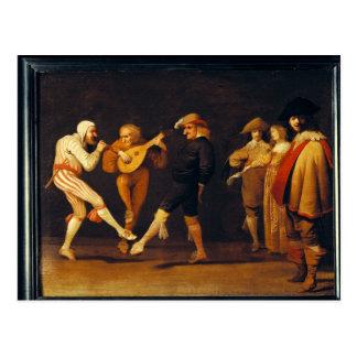 Carte Postale Danse d'acteurs de farce