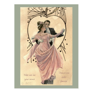 Carte Postale Danse de couples