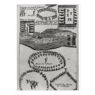 Carte Postale Danse de tuyau de paix de l'Iroquois