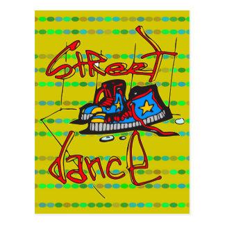 Carte Postale Danse et chaussures de rue