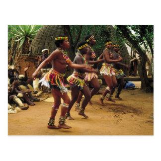 Carte Postale Danse, style de zoulou - Afrique du Sud