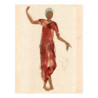 Carte Postale Danseur c1906 du Cambodge de Rodin de ~ de
