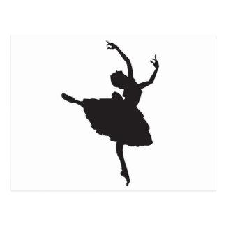 Carte Postale Danseur classique noir de silhouette