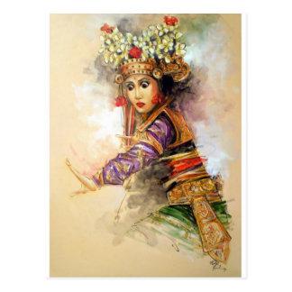 Carte Postale Danseur de Balinese