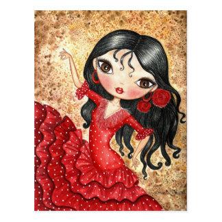 """Carte Postale """"Danseur de flamenco """""""