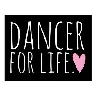 Carte Postale Danseur pour le noir de la vie avec le coeur