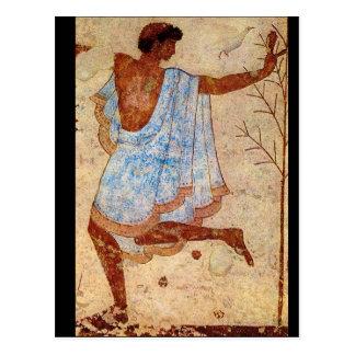 Carte Postale Danseur', Tarquinia, Tombe_Art de l'antiquité