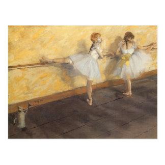 Carte Postale Danseurs à la barre par Edgar Degas, ballet