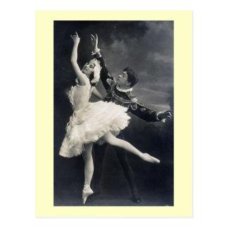 Carte Postale Danseurs classiques vintages
