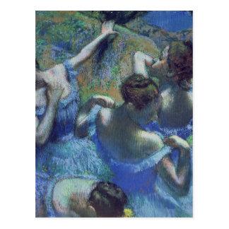Carte Postale Danseurs de bleu d'Edgar Degas  , c.1899