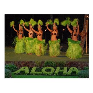 Carte Postale Danseurs de danse polynésienne