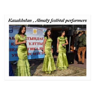 CARTE POSTALE DANSEURS DE KAZAKHSTAN ALMATY FERSTIVAL