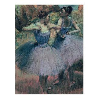Carte Postale Danseurs d'Edgar Degas | dans la violette
