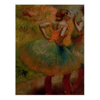 Carte Postale Danseurs d'Edgar Degas | utilisant des jupes de