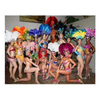 Carte Postale danseuses de filles d'exposition du Brésil vegas