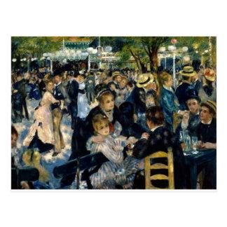 Carte Postale Dansez à la La Galette de Le Moulin de par Renoir