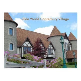 Carte postale d'antan 2 de village de Cantorbéry