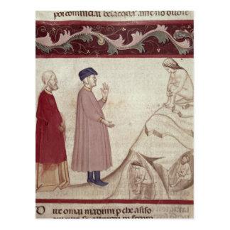 Carte Postale Dante et Virgil rencontrent les âmes emprisonnées