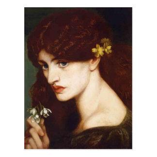 Carte Postale Dante Gabriel Rossetti- Blanzifiore (perce-neiges)