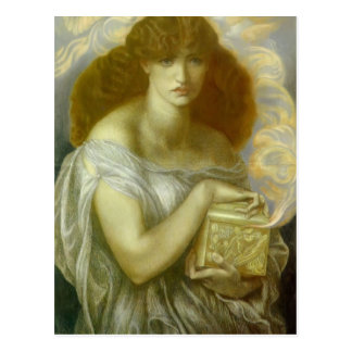 Carte Postale Dante Gabriel Rossetti : Pandore