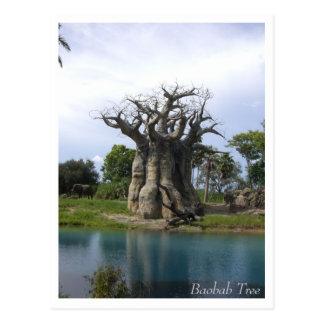 Carte postale d'arbre de baobab