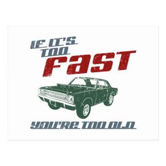 Carte Postale Dard de 1968 Dodge Hurst Hemi