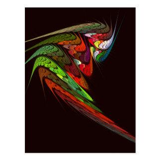 Carte postale d'art abstrait de caméléon
