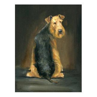 Carte postale d'art de chien d'Airedale Terrier