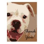 Carte postale d'art de chien de boxeur de Merci