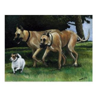 Carte postale d'art de chien de great dane