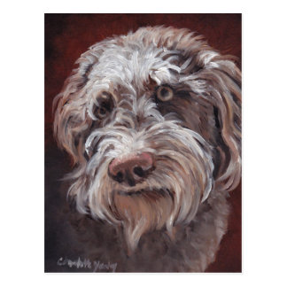 Carte postale d'art de chien de Labradoodle