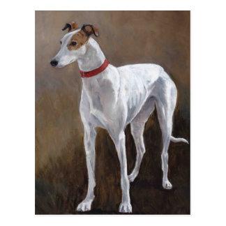 Carte postale d'art de chien de lévrier