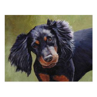 Carte postale d'art de chien de poseur de Gordon