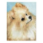 """""""Carte postale d'art de chien d'étude de tête de Cartes Postales"""
