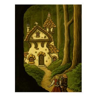 Carte postale d'art de conte de fées de Hansel et