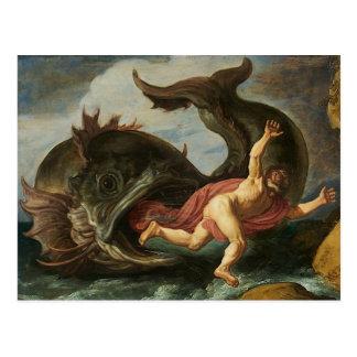 """Carte postale d'art de """"Jonas et de la baleine"""""""