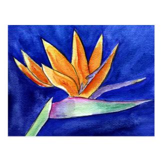 Carte postale d'art de peinture de fleur