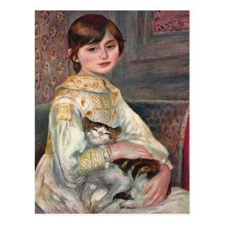 Carte postale d'art de Renoir : Mlle. Julie Manet