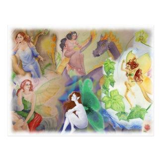 Carte postale d'art d'imaginaire