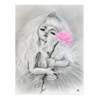 Carte postale d'art d'oeil de fille rêveuse