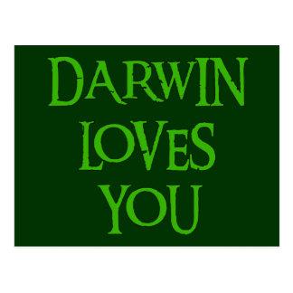 Carte Postale Darwin vous aime