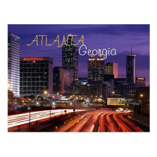 Carte postale d'Atlanta, la Géorgie