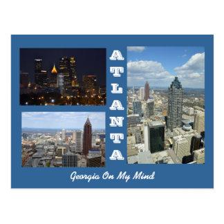 Carte postale d'Atlanta, paysage urbain de la