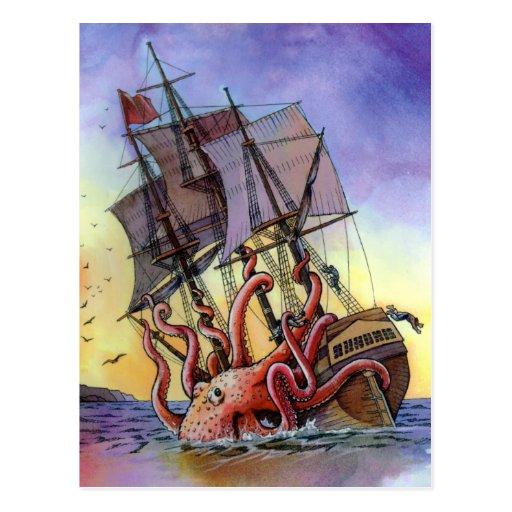Carte postale d'attaque de Kraken