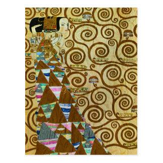 Carte postale d'attente de Gustav Klimt